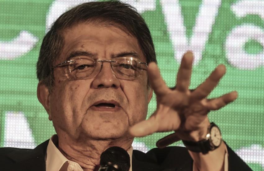 Sergio Ramírez, presidente de Centroamérica Cuenta y miembro del Consejo Rector de la FNPI. Foto: Joaquín Sarmiento / FNPI.