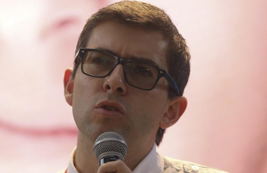 Hernán Restrepo, gestor de contenidos de la Red Ética. Foto: Joaquín Sarmiento / Fundación Gabo.