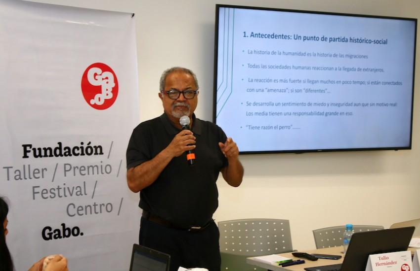 Tulio Hernández, sociólogo y columnista de El Nacional (Venezuela). Foto: Guillermo González / Fundación Gabo.