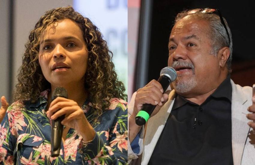 Ginna Morelo y Tulio Hernández.