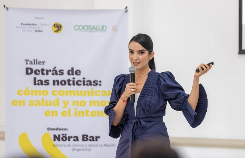 Fernanda Hernández, editora de salud de Noticias Caracol. Foto: Fundación Gabo.