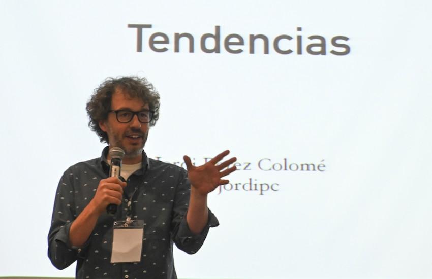 Jordi Pérez Colomé, reportero de tecnología de El País. Foto: Joaquín Sarmiento / Fundación Gabo.