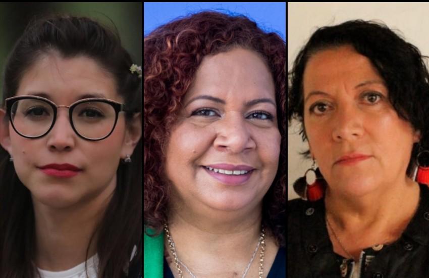 Ketzalli Rosas, Luz Mely Reyes y Soledad Mella.