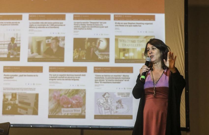 Carolina Robino, editora de BBC Mundo. Foto: Joaquín Sarmiento / Fundación Gabo.