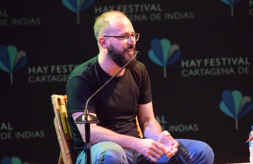 Ernesto Picco en el Hay Festival Cartagena 2020. Foto: Cortesía Hay Festival.
