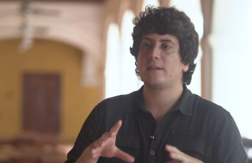 Fabrice Le Lous, periodista de La Nación (Costa Rica). Foto: Archivo Fundación Gabo.