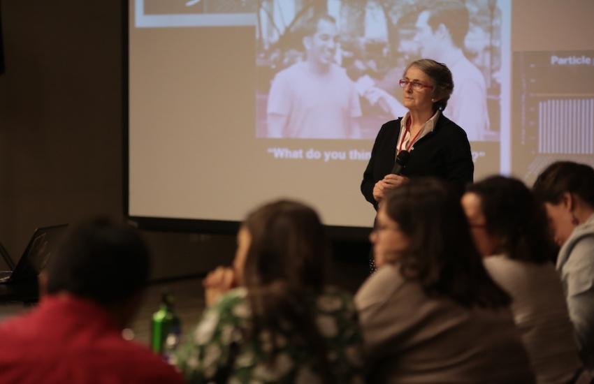 Liza Gross, periodista y directiva de la Red de Periodismo de Soluciones. Foto: Archivo Fundación Gabo.