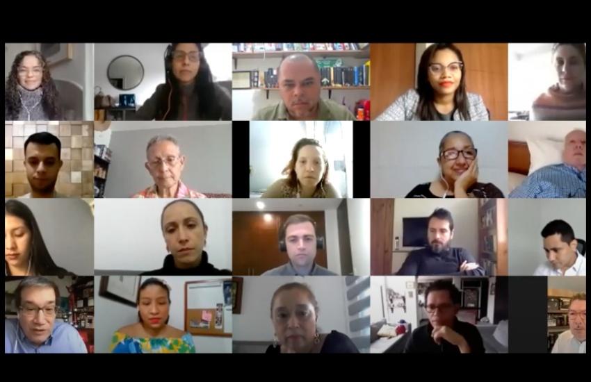 Captura del foro virtual, moderado por Ginna Morelo y Jaime Abello Banfi.