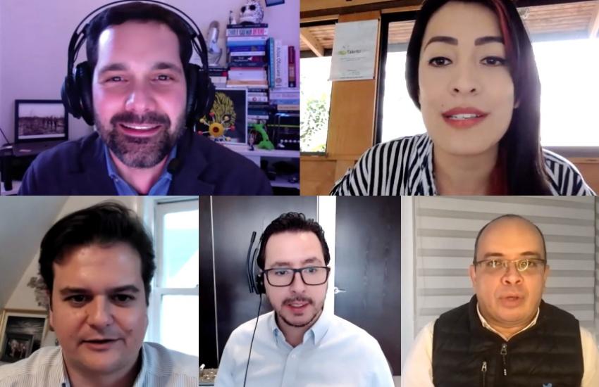 Expertos invitados al taller 'Contextos inteligentes: periodismo y tecnología en América Latina'.