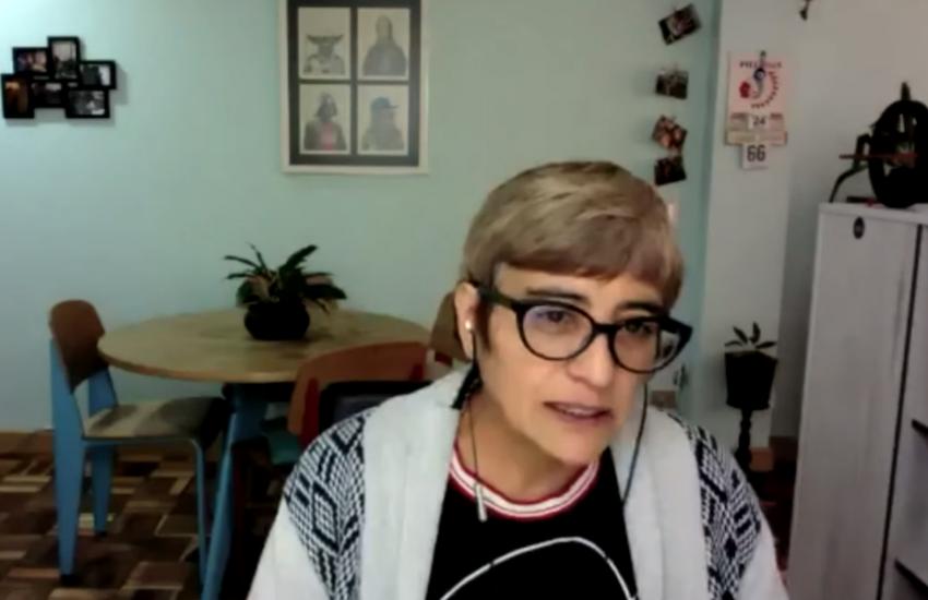 Captura de pantalla del taller dirigido por Olga Lucía Lozano.