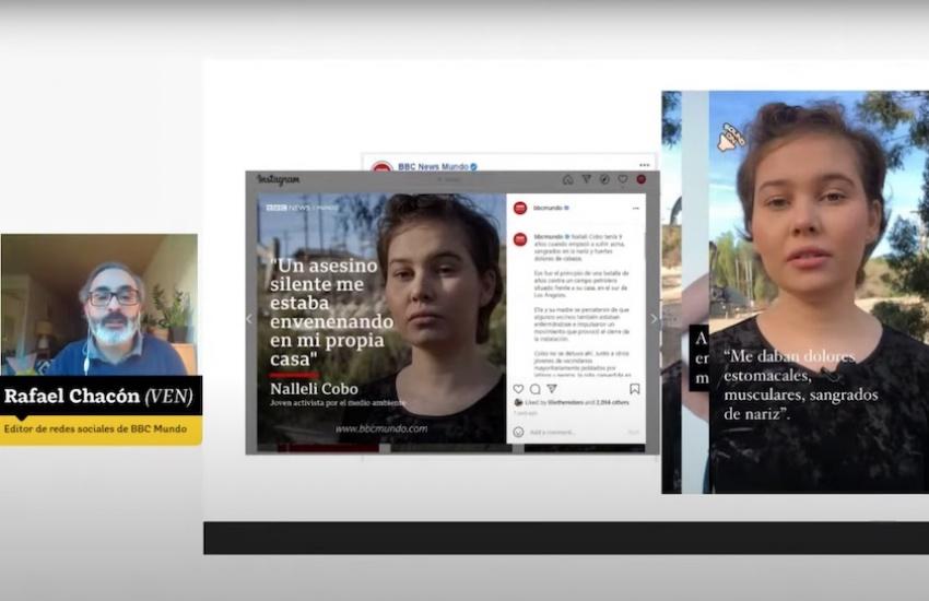 Captura del seminario-taller virtual con Rafael Chacón.